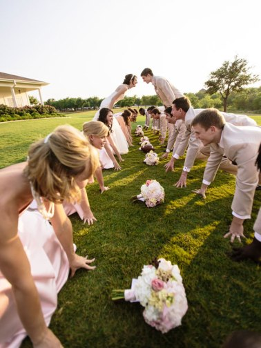 football-inspired-wedding-party